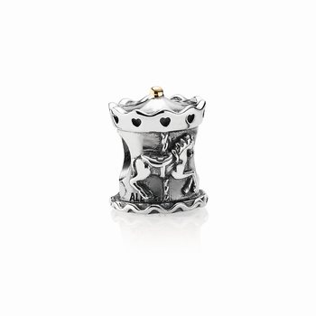 Carousel Silver and Gold Charm - PANDORA 791236